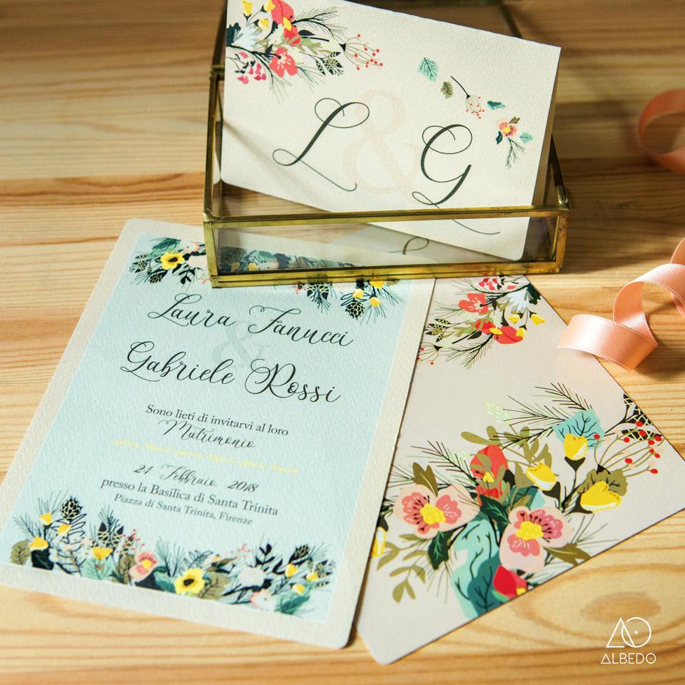 Partecipazioni Matrimonio Firenze.Partecipazione Di Nozze Flower Partecipazioni Pescara