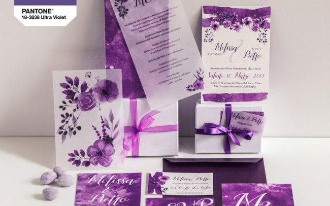 wedding stationery ultra violet