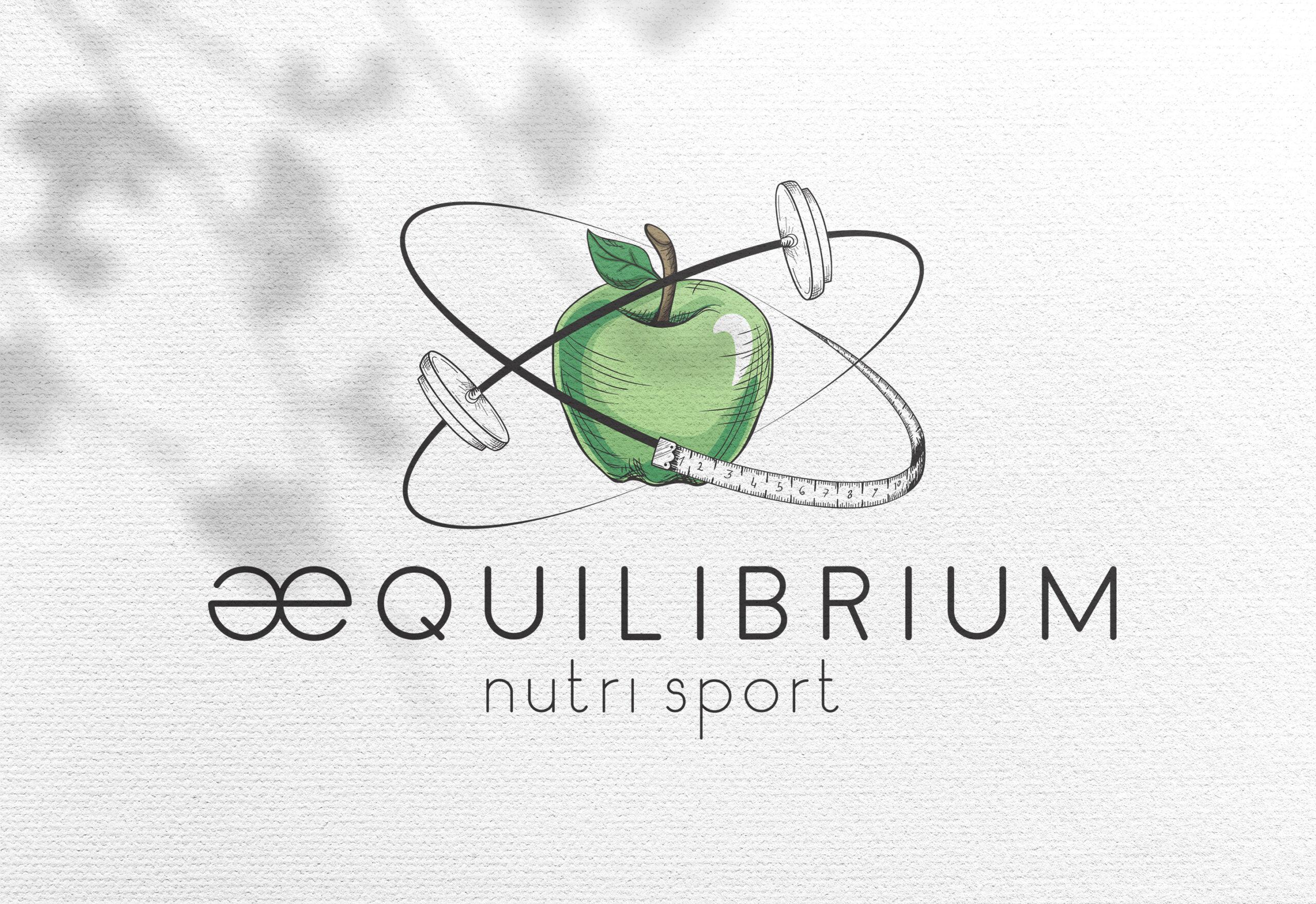 albedo brand identity aequilibrium nutrisport logo