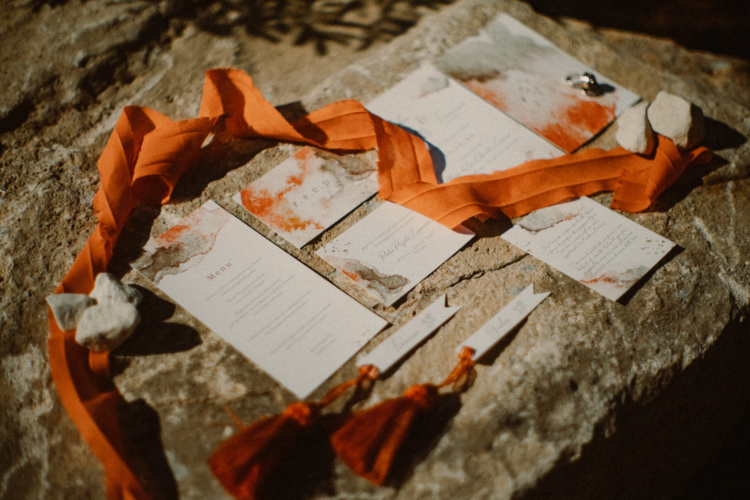 partecipazione di matrimonio terra