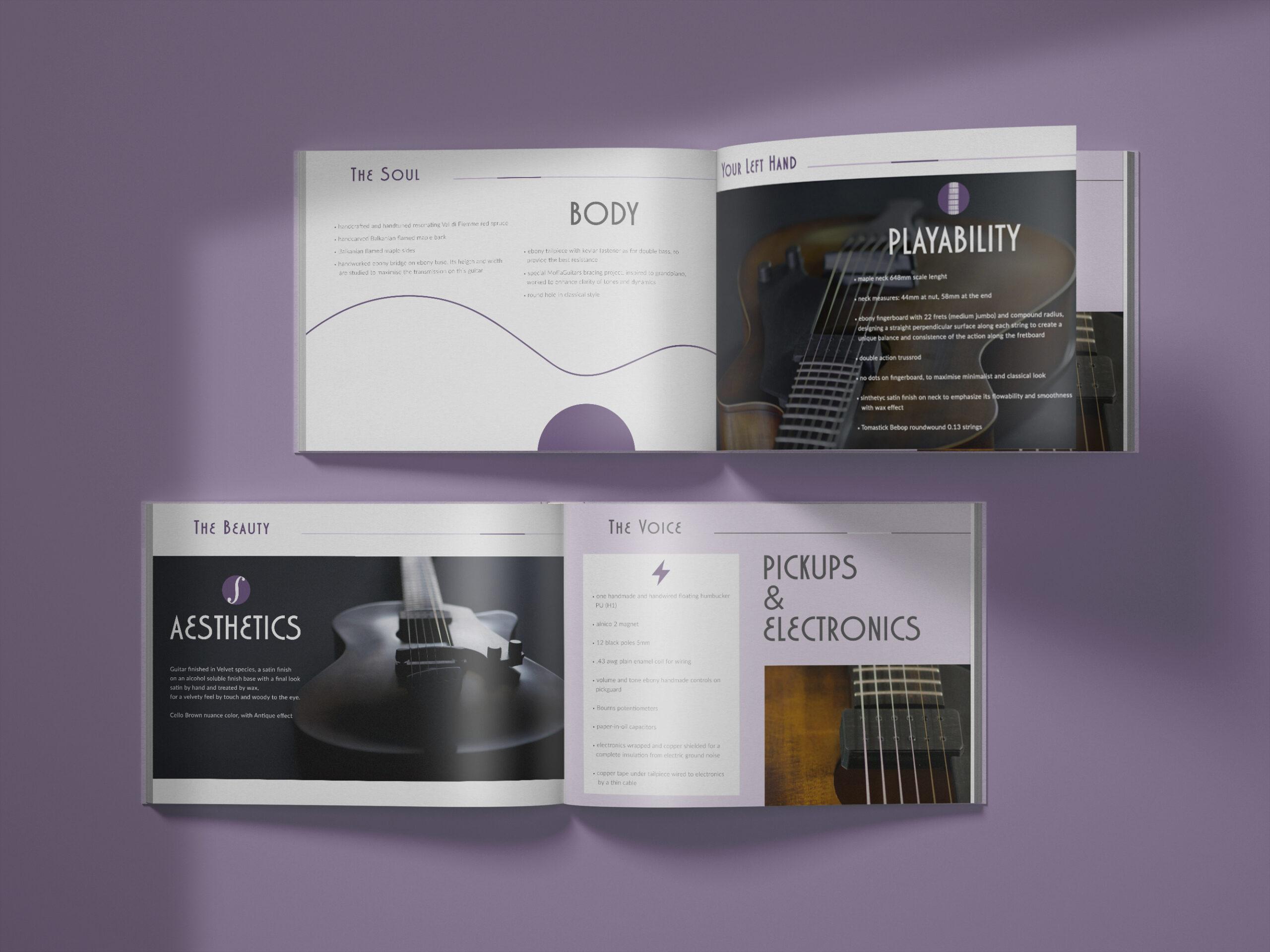 albedo realizzazione brand-identity moffa guitars brochure
