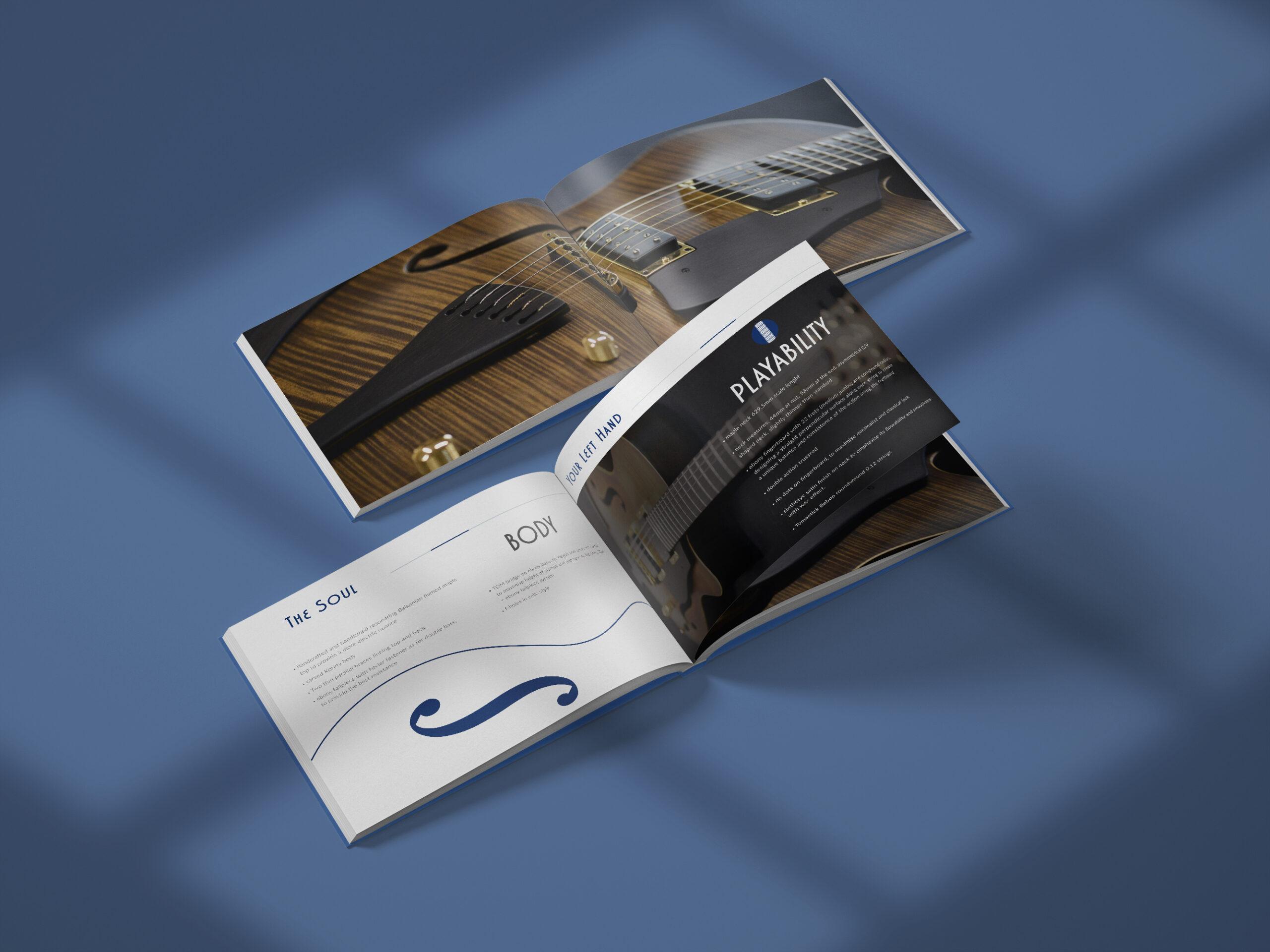 albedo realizzazione brand-identity moffa guitars palette brochure