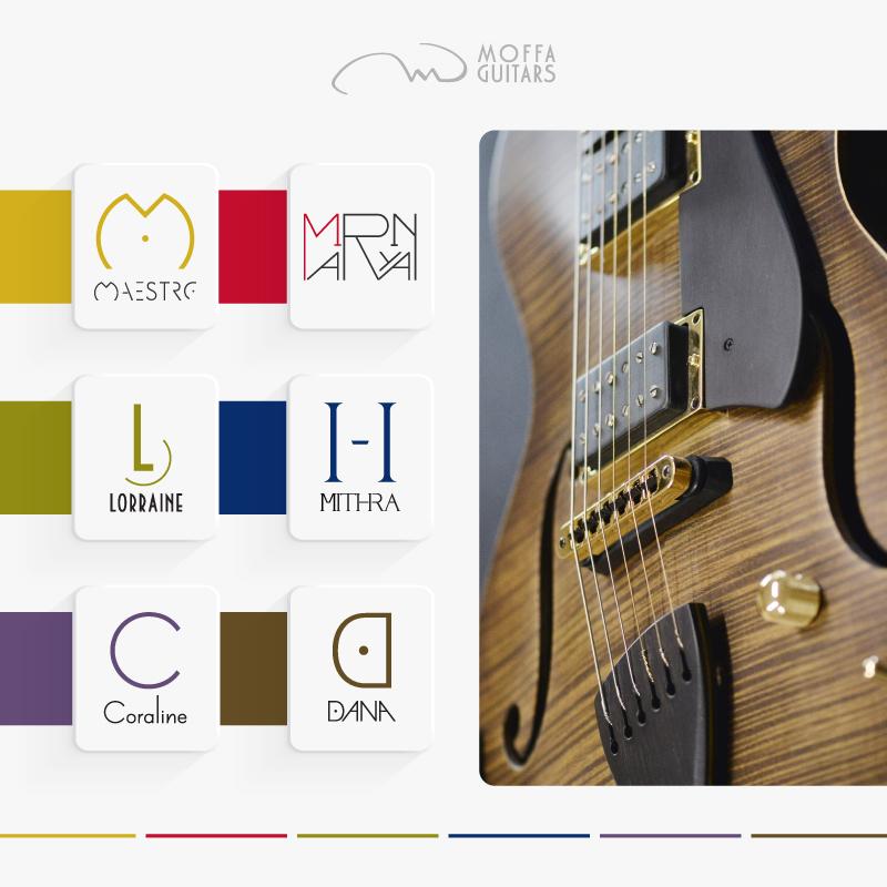 albedo realizzazione brand-identity moffa guitars palette moodboard