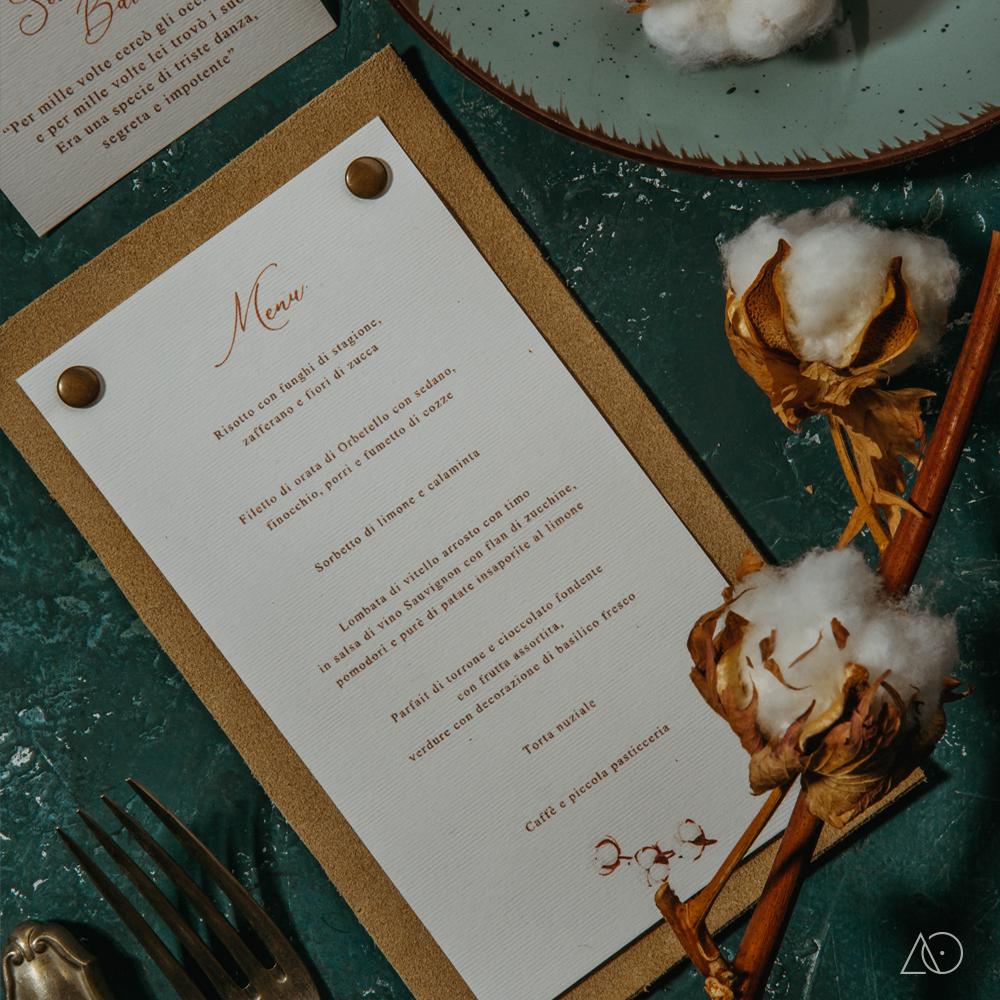 albedo partecipazione di matrimonio cotone menu